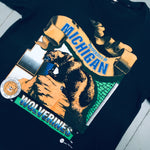 Michigan Wolverines: 1990's Graphic Spellout Tee (M)
