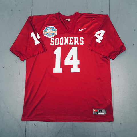 "Oklahoma Sooners: No. 14 ""Sam Bradford"" w/ 2009 BCS National Championship Patch Nike Jersey (XL)"