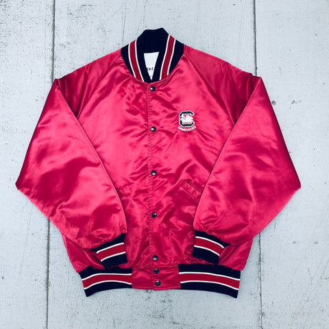 Baltimore Orioles: 1990's Stitched Spellout Starter Satin Bomber (XL)