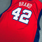 Los Angeles Clippers: Elton Brand 2015/06 Red Reebok Jersey (XL)