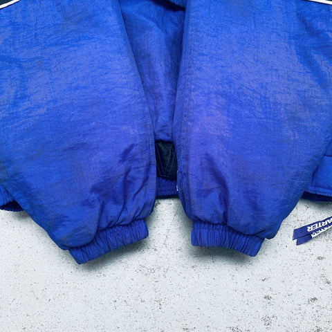 Indianapolis Colts: 1990's Logo Athletic 1/4 Zip Windbreaker w/ Hood (L)