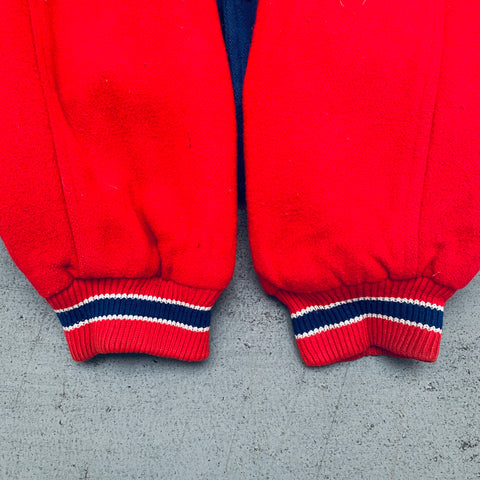San Diego Chargers: 1990's Embroidered Graffiti Spellout Double Hooded Starter Sweat (XL)
