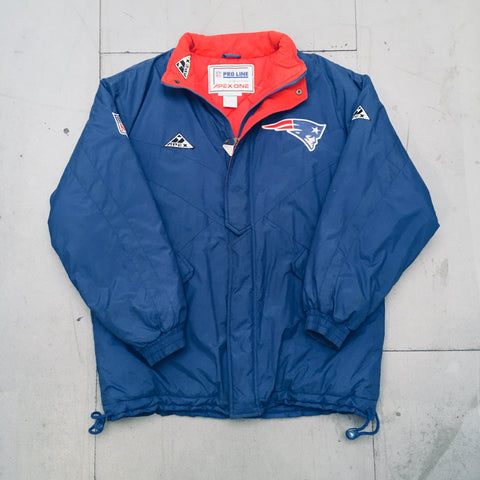 New England Patriots: 1990's Apex One Fullzip Coach's Sideline Jacket (L/XL)