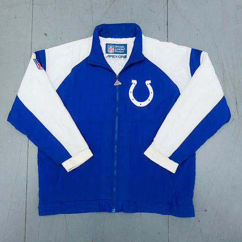 Indianapolis Colts: 1990's Apex One Fullzip Sideline Jacket (L)