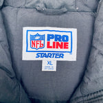 Carolina Panthers: 1990's Fullzip Feather Down Proline Starter Trench Coat (XL)