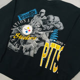 Pittsburgh Steelers: 1990's Logo 7 Double Sided Spellout Sweat (M)