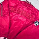 Washington Redskins: 1991 Deadstock Campri Embroidered Spellout Fullzip Bomber Jacket (M/L) - BNWT!