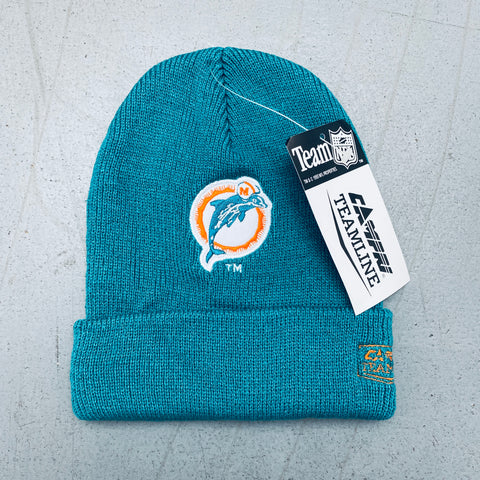 Miami Dolphins: 1990's Deadstock Campri Embroidered Old Logo Beanie - BNWT!