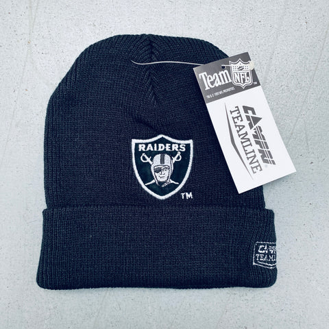 Los Angeles Raiders: 1990's Deadstock Campri Embroidered Beanie - BNWT!