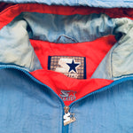 Houston Oilers: 1990's 1/4 Zip Starter Jacket (L/XL)