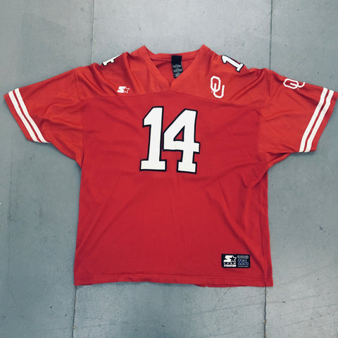 Oklahoma Sooners: 1990's Stitched Starter Fan Jersey (XL)