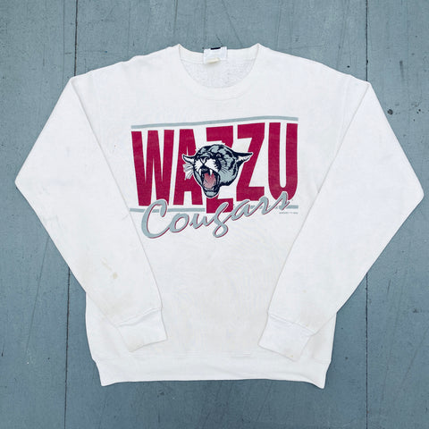 Washington State Cougars: 1992 Graphic Spellout Sweat (S/M)