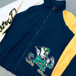Notre Dame Fighting Irish: 1990's Logo Athletic Sleeve Script Windbreaker (S/M)