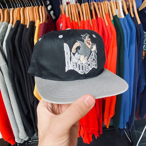 Los Angeles Raiders: 1990's Fred Flintstone Embroidered Snap