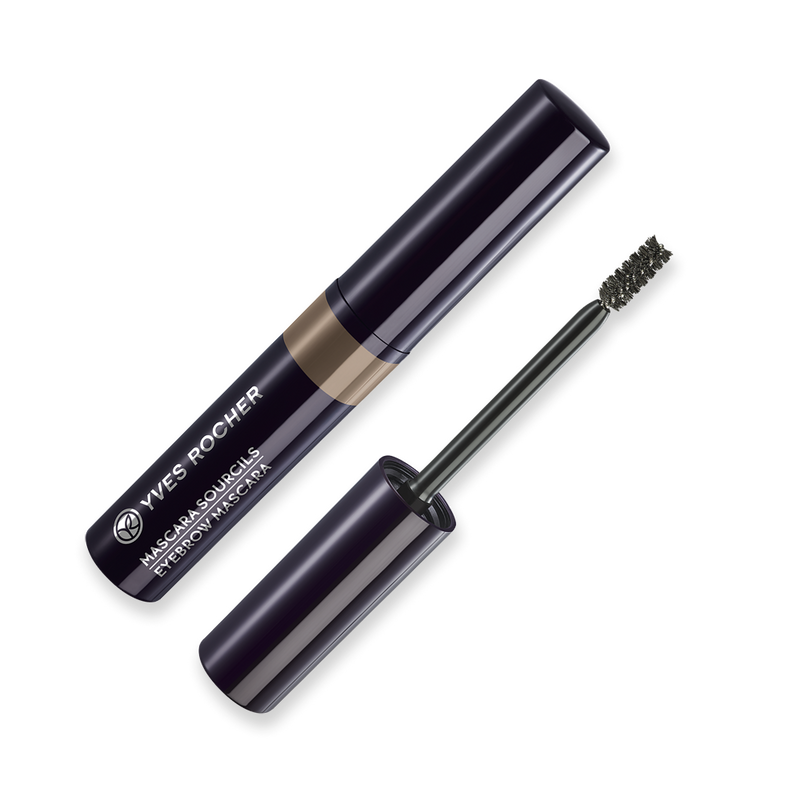 A 100% natural plant fiber mascara to tame brows with precision and color them naturally