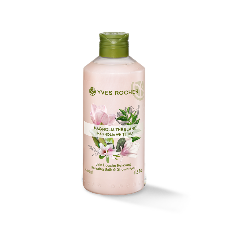 The soft caress of a gentle bath and shower gel with relaxing benefits.