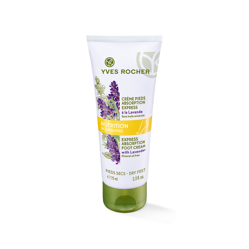 Intensely nourishes and softens dry feet