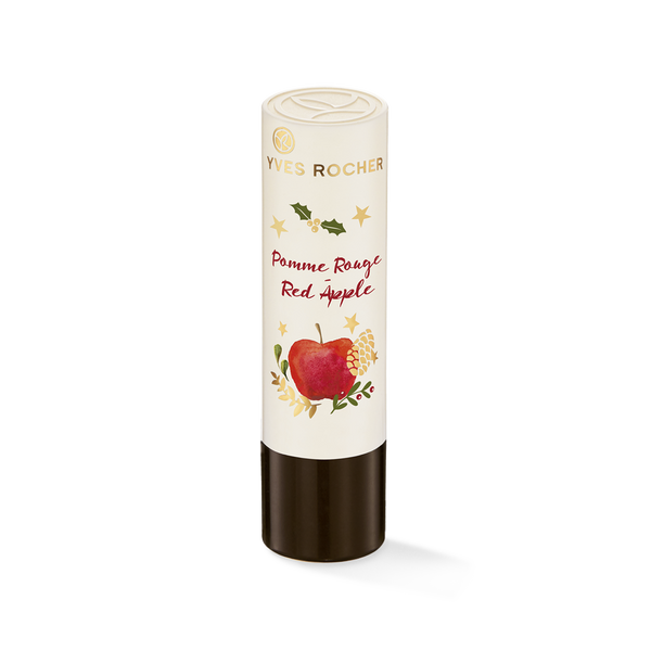 Soft lips scented with enveloping indulgent notes of red apple