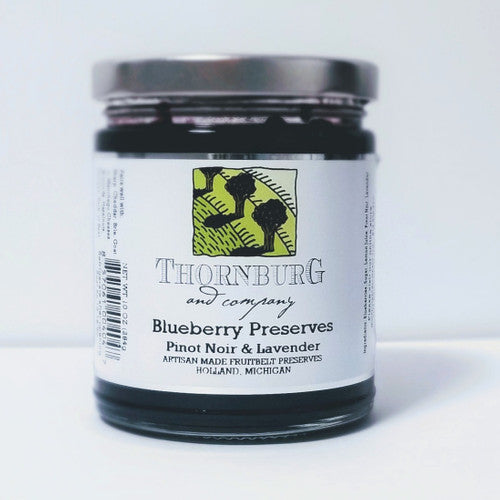 Preserves - Blueberry with Pinot Noir and Lavender Preserve, Thornburg and Company