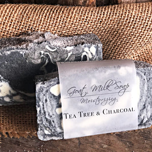 Goats Milk Soap - Tea Tree & Charcoal