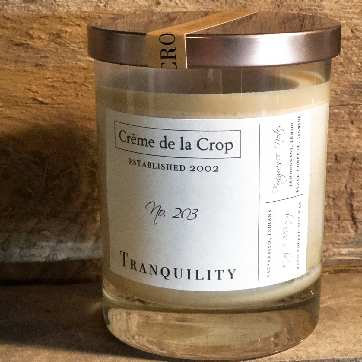 Soy Candle - Tranquility (Lemongrass & Black Current)