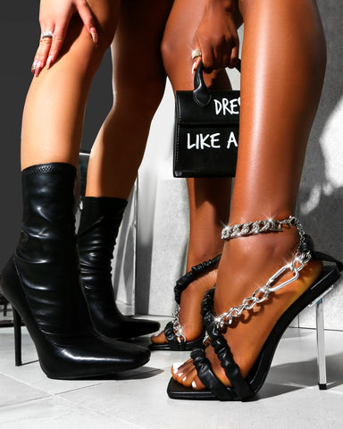 Black going out party heels