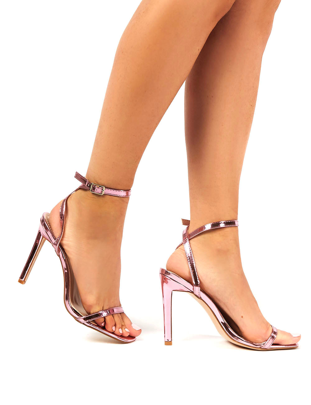 Notion Squared Toe Barely There Heels