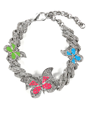 BUTTERFLY ANKLET SILVER MULTI