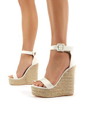 white wedge heal court shoes