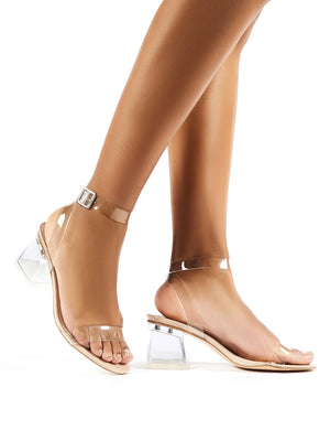 Afternoon Wide Fit Nude Patent Perspex