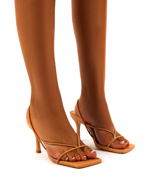 Annika Nude Wide Fit Strappy Heels