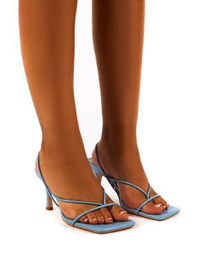 Annika Blue Wide Fit Strappy Heels