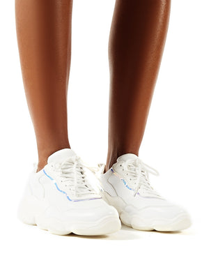 Abbie White Chunky Trainers   Public