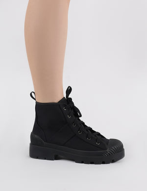 Greenland Ankle Boots in Black Canvas