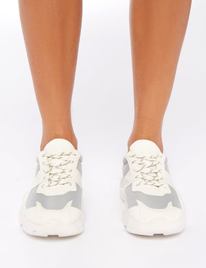 LISSY RODDY x PD Casj White and Grey Chunky Trainers