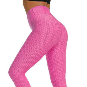 Anti Cellulite Compression Leggings - Red Textured