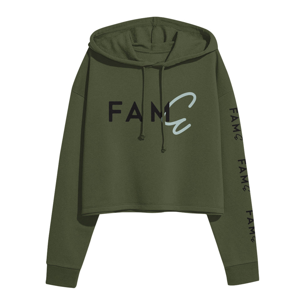 FAME Military Green Cropped