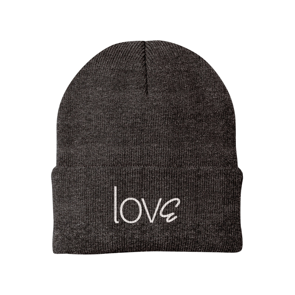 lovE Dark Grey Beanie