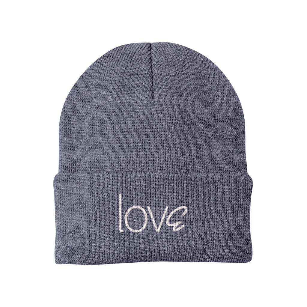 lovE Heather Navy Beanie