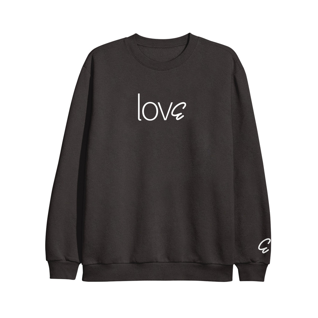 lovE Black Crewneck