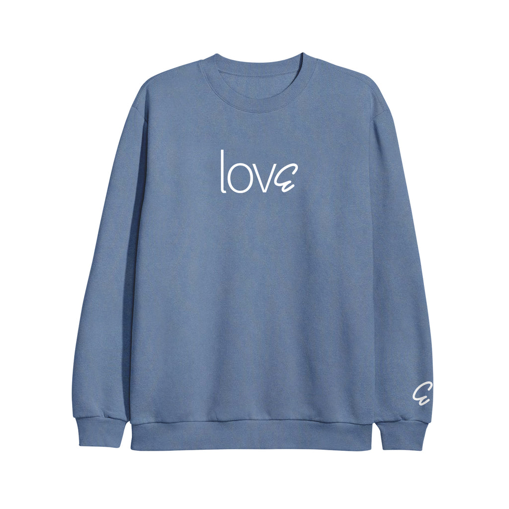 lovE Light Blue Crewneck