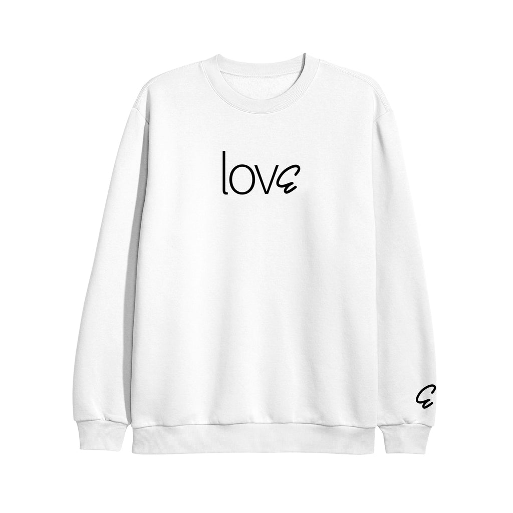 lovE White Crewneck