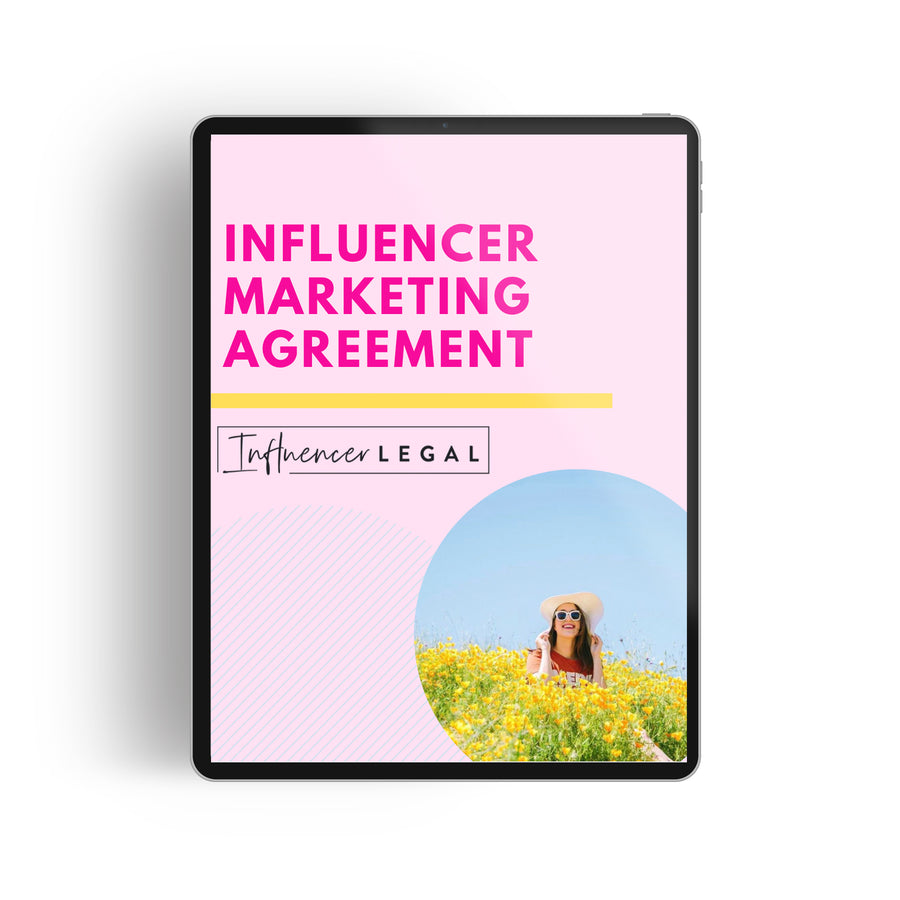 Influencer Marketing Agreement Template