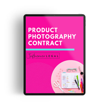 Product Photography Contract Template