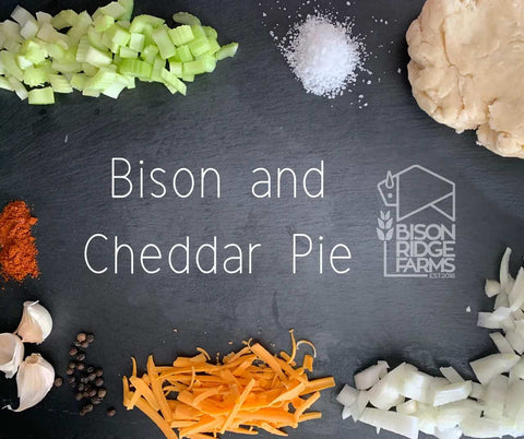 BISON AND CHEDDAR PIE
