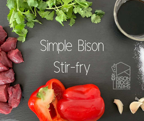 SIMPLE BISON STIR-FRY