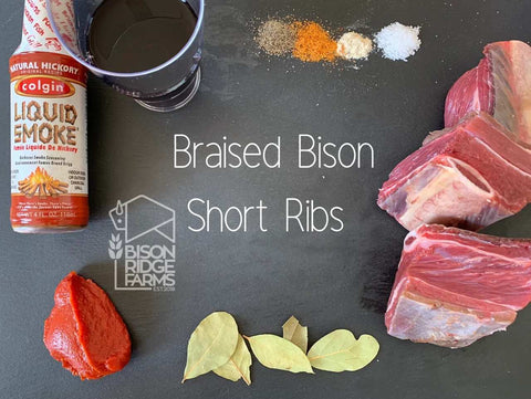BRAISED BISON SHORT RIBS IN BBQ SAUCE