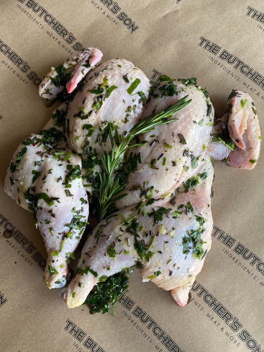 Flat Chicken - Fresh Herb & Garlic