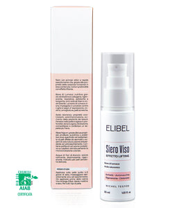 Elibel Siero Viso Bava di Lumaca PURA 100% BIO CERTIFICATA Acido Ialuronico Aloe Vera Olio Argan, Antirughe. -Airless 30 ml Effetto Lifting viso, collo e Décolleté 100% MADE IN ITALY Nichel tested