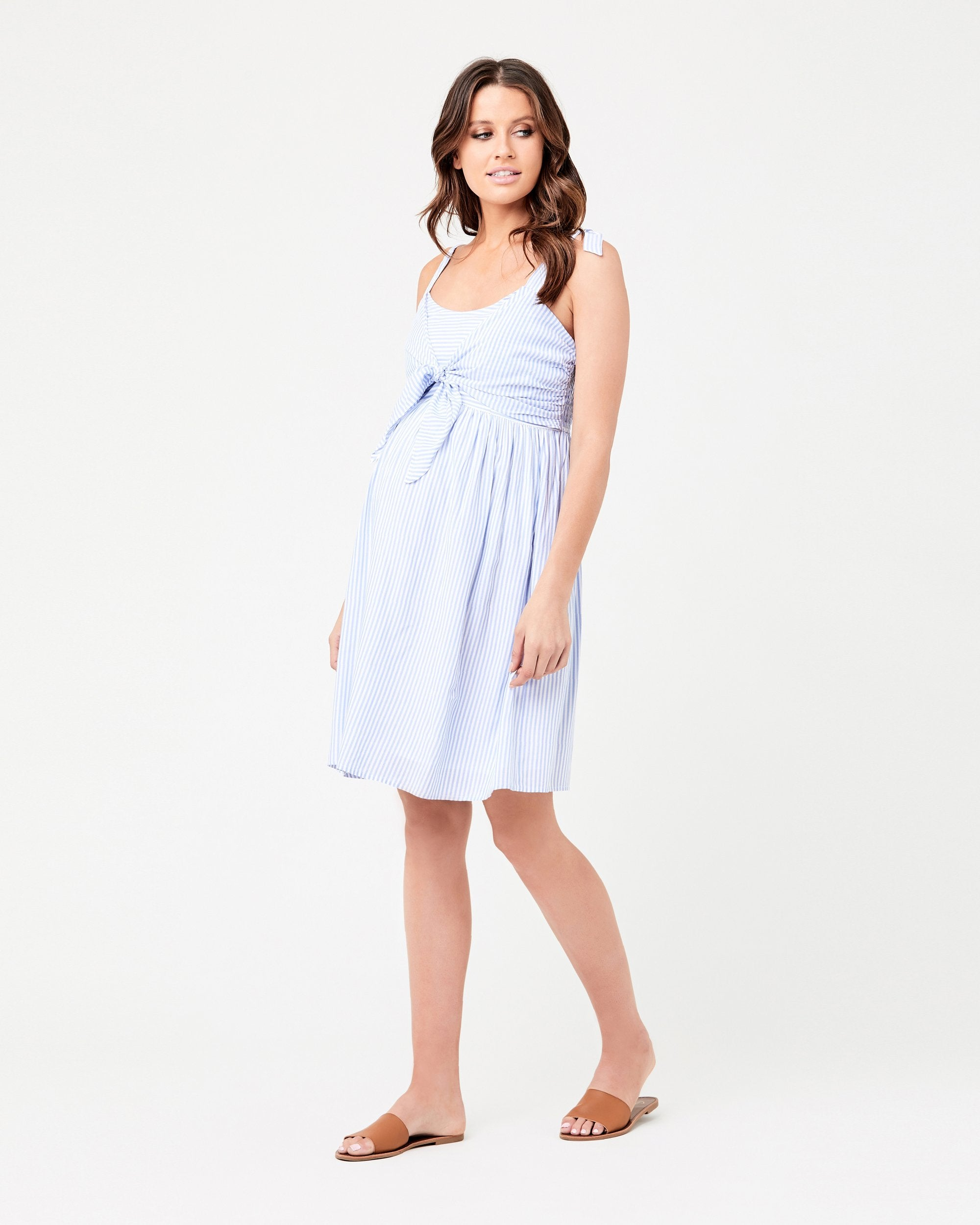 Ripe Womens Maternity Sally Tie Front Nursing Dress